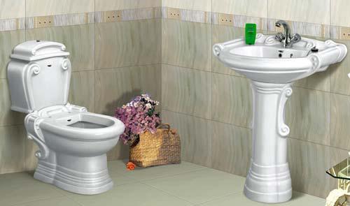 صادرات چینی بهداشتی توالت فرنگی روشویی